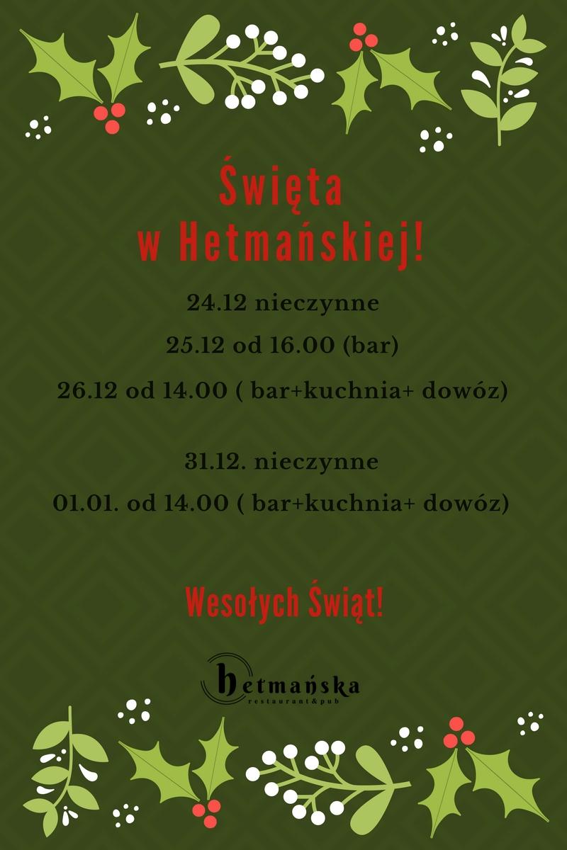 Święta w Hetmańskiej